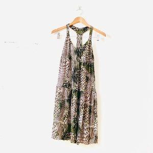 Just Cavalli Snake Print Halter Dress